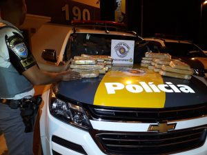 EQUIPE DO TÁTICO OSTENSIVO RODOVIÁRIO (TOR) APREENDE NESSA MADRUGADA APROXIMADAMENTE 20KG DE MACONHA